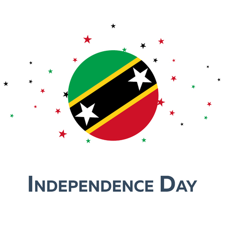 Independence day of Saint Kitts and Newis. Patriotic Banner. Vector illustration
