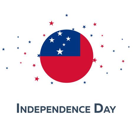 sovereignty: Independence day of Samoa. Patriotic Banner. Vector illustration Illustration