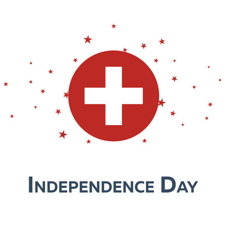 Independence day of Switzerland. Patriotic Banner. Vector illustration