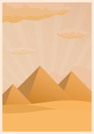 Travel poster to Egypt. Vector flat illustration