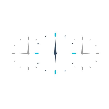 overtime: Time logo. Watch icon. Vector flat illustraion Illustration