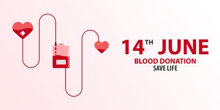 血寄付バナー。医療イラスト ベクトル イラスト  イラスト・ベクター素材