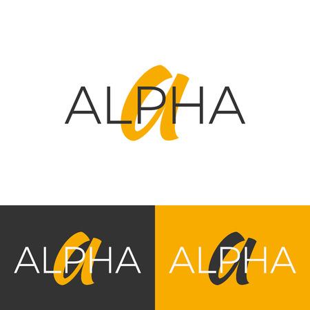 Logotipo de Alpha. Letra A logo.