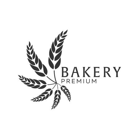 loaf: Bakery shop emblem, labels, logo and design elements. Fresh bread and wheat. Vector illustration