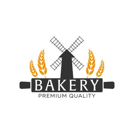 loaf: Bakery shop emblem, labels, logo and design elements. Vector illustration