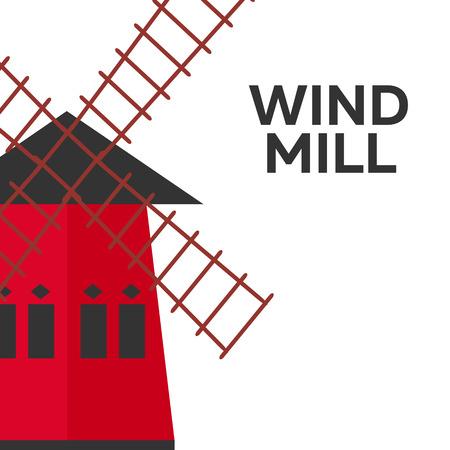 Mill flat design. Bakery. Vector illustration icon Illustration