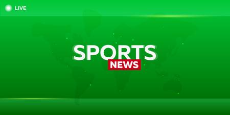 Mass media. Sports news. Breaking news banner. Live. Television studio TV show