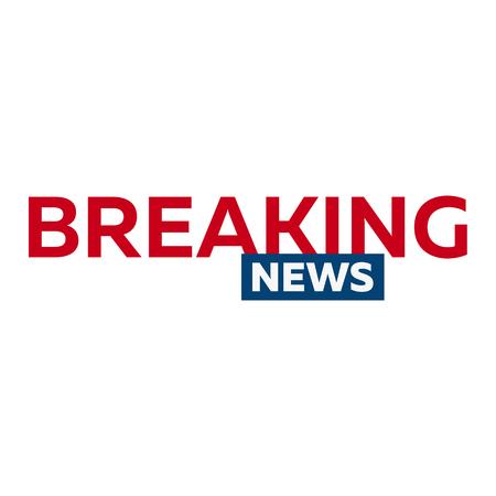 Mass media. Breaking news logo for Television studio. TV show
