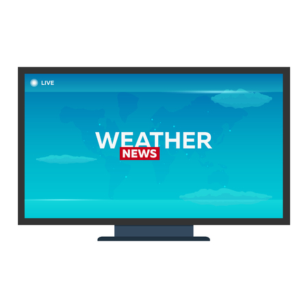 Breaking news banner, Weather news