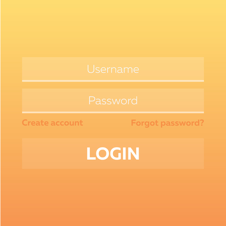signup: Material Design UI, UX and GUI layout with Login Screens