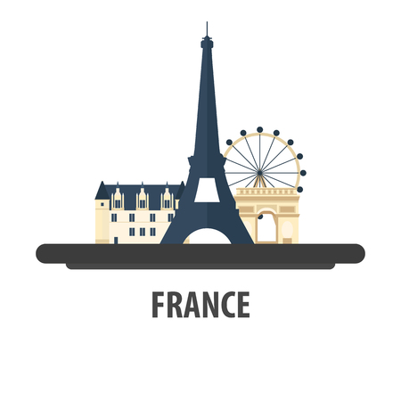France travel location. Vacation or trip and holiday
