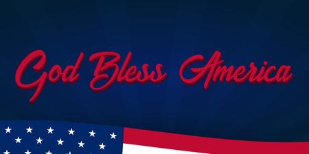 Amerikaanse Independence Day. God zegen Amerika. 4 juli. Sjabloon achtergrond voor wenskaarten, posters, folders en brochure. Vector illustratie