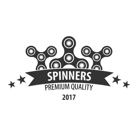 Hand Spinner , Emblems and Icon. Fidget Spinners. Anti Stress toy