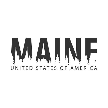 メイン州アメリカ合衆国  イラスト・ベクター素材