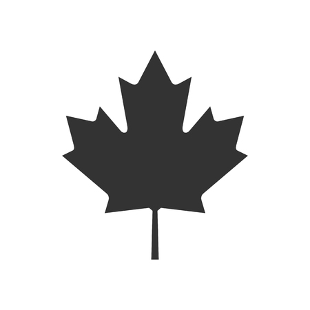 Canada. Text or labels with silhouette of forest