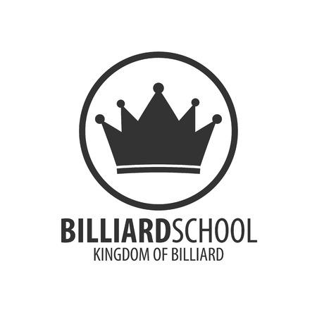 snooker hall: Logo for Billiard school, club or shop. Vector illustration Illustration