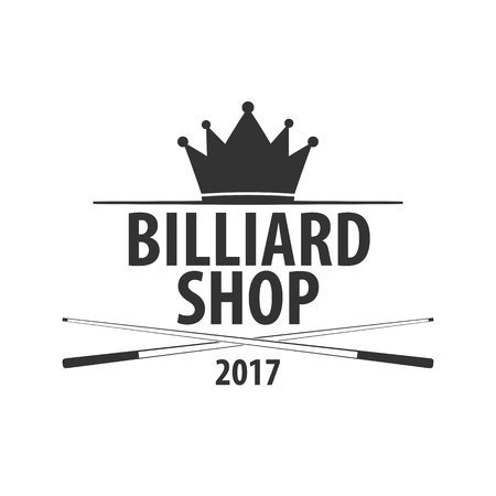 billiards halls: Logo for Billiard school, club or shop. Vector illustration Illustration