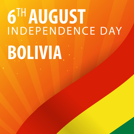streamers: Independence day of Bolivia. Flag and Patriotic Banner. Vector illustration