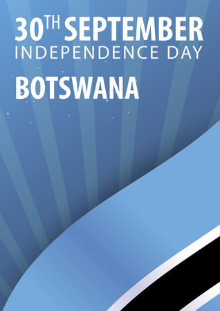 Independence day of Botswana. Flag and Patriotic Banner. Vector illustration Illustration