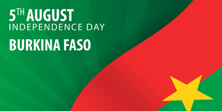 Independence day of Burkina Faso. Flag and Patriotic Banner. Vector illustration Illustration