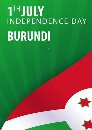 Independence day of Burundi. Flag and Patriotic Banner. Vector illustration Illustration