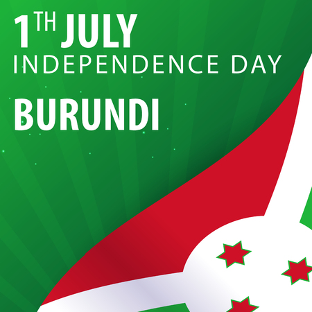 texturized: Independence day of Burundi. Flag and Patriotic Banner. Vector illustration Illustration