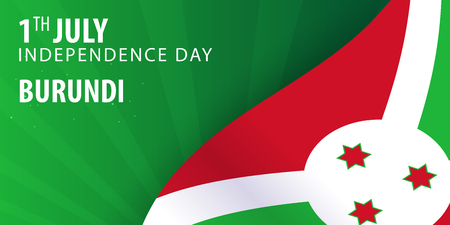 Independence day of Burundi. Flag and Patriotic Banner. Vector illustration Stock Vector - 82167636