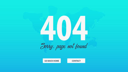 404 Error. Page not found. UI UX template for website. Vector illustration