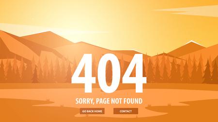 404 エラーです。ページが見つかりませんでした。ウェブサイトの UI UX テンプレートです。ベクトル図