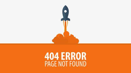 404 Błąd. Strona nie znaleziona. Szablon interfejsu UI UX dla witryny. Ilustracji wektorowych