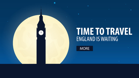 london tower bridge: Time to travel. Travel to England. England is waiting. Vector illustration Illustration