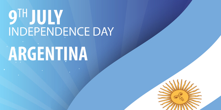 Independence day of Argentina. Flag and Patriotic Banner. Vector illustration