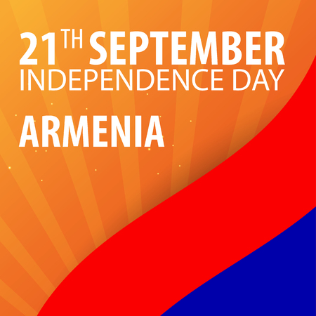 Independence day of Armenia. Flag and Patriotic Banner. Vector illustration