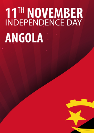 Independence day of Angola. Flag and Patriotic Banner. Vector illustration