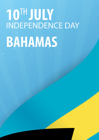 Independence day of The Bahamas. Flag and Patriotic Banner. Vector illustration