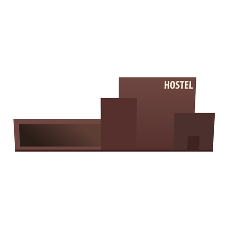 Hostel building. Guest house. Hotel building Travel