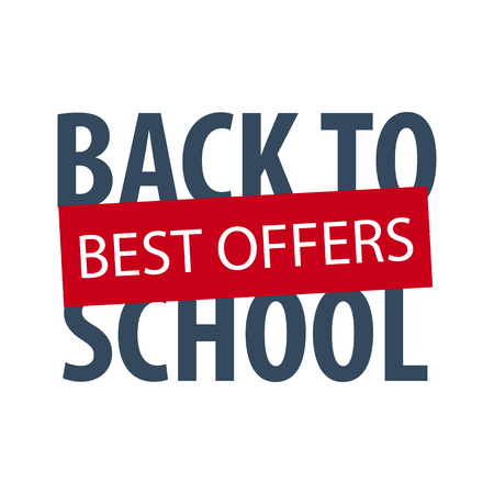 school class: Back to School logo or emblem. Sale and Best offers. Vector illustration Illustration