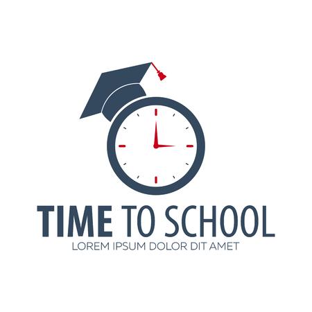 Back to School logo or emblem. Sale and Best offers. Vector illustration Illustration