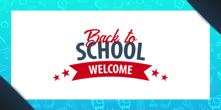 Back to School background. Education banner. Vector illustration Illustration