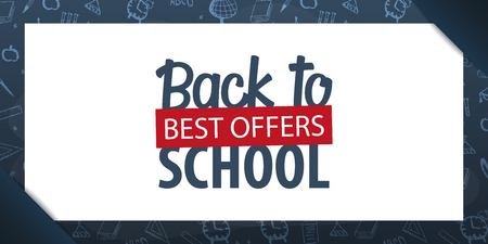 Back to School background. Education banner. Vector illustration Illustration