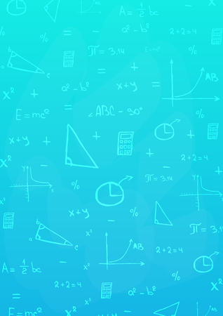 Mathematics subject. Back to School background. Education banner Illustration