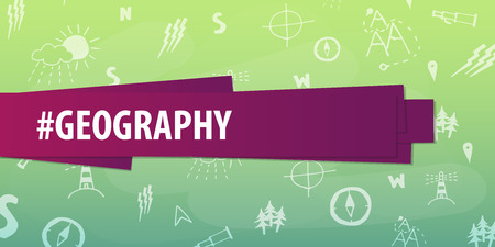 basic law: Geography subject. Back to School background. Education banner Illustration