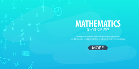 Mathematics subject notebook template Illustration