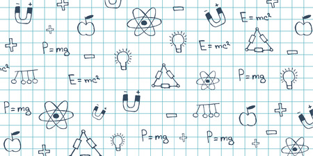 Physics subject. Back to School background. Education banner