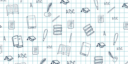 orthography: Literature subject. Back to School background. Education banner Illustration