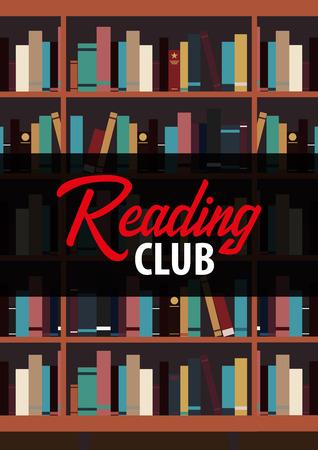 Reading Club poster design Illusztráció