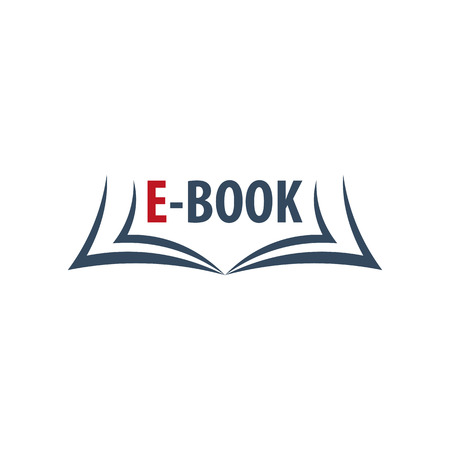 talking dictionary: E Book Store Logo. Education and book emblem. Vector illustration Illustration