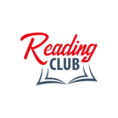Reading Club Logo. Education and book emblem. Vector illustration Illustration