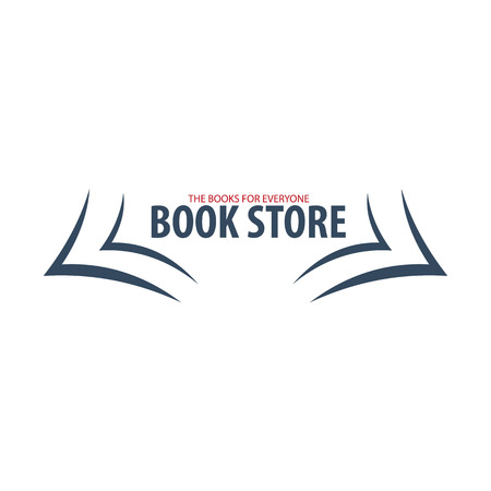 talking dictionary: Book Store Logo. Education and book emblem. Vector illustration