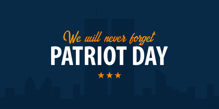 Patriot dag achtergrond. 11 september. We zullen nooit vergeten